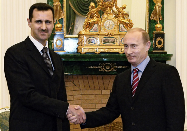 Bashar al-Assad and Vladimir Putin