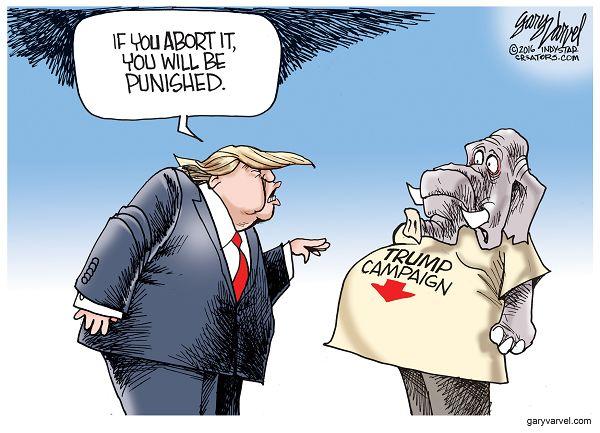 Cartoonist Gary Varvel: Trump's abortion gaffe