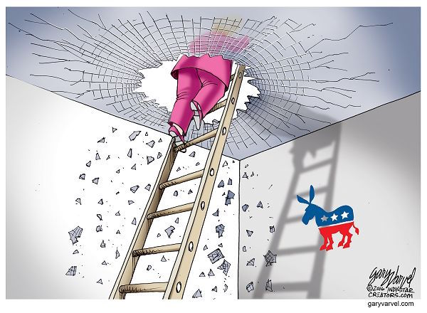Cartoonist Gary Varvel: Hillary breaks the glass ceiling