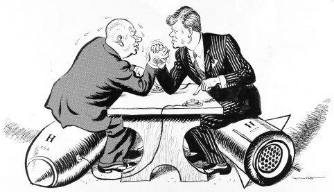 Kennedy-and-Khrushchev