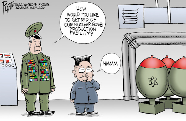 Bruce Plante Cartoon: Kim Jong Un's plan