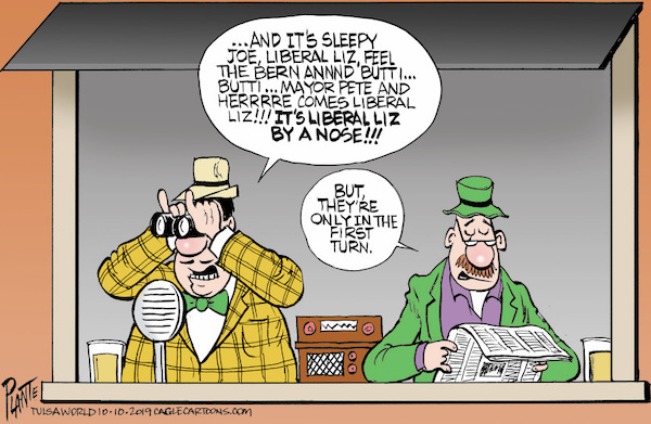Bruce Plante Cartoon: The Democratic Horse Race